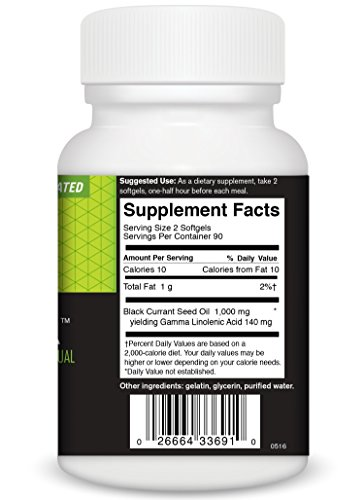 FoodScience of Vermont Natural GLA, Black Currant Seed Dietary Supplement, 180 Soft Gels by FoodScience of Vermont (Image #4)