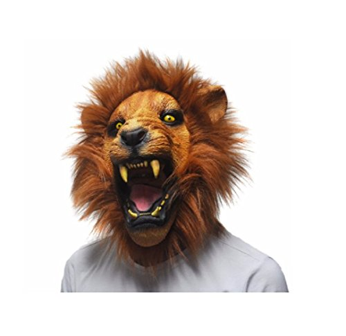 Game Maker Costume Hunger Games (Fun Halloween Props Adult Angry Lion Head Masks Weapon X Superhero Full Masquerade Face Mask Party Fancy Dress)