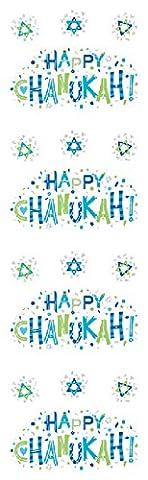 Mrs Grossman's Reflective Strip Stickers - Happy Chanukah - Mrs Grossmans Sticker Strips