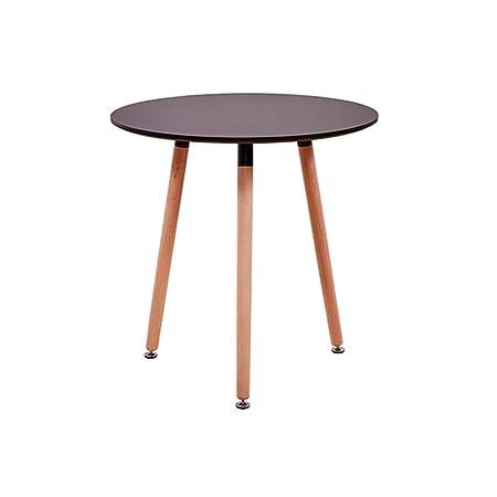Soggiorno Moderno Con Tavolo Da Pranzo.Wxger Tavolino Rotondo In Legno Tavolo Da Pranzo Low Coffee Table