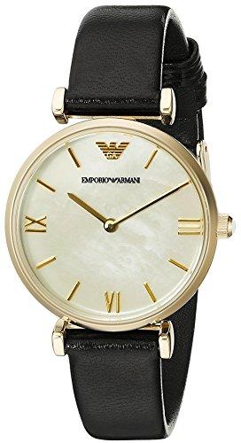 Emporio Armani Women's AR1910 Retro Black Leather Watch