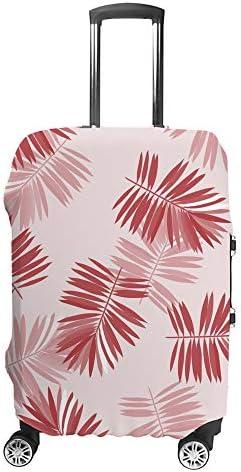 スーツケースカバー 熱帯の葉 伸縮素材 キャリーバッグ お荷物カバ 保護 傷や汚れから守る ジッパー 水洗える 旅行 出張 S/M/L/XLサイズ