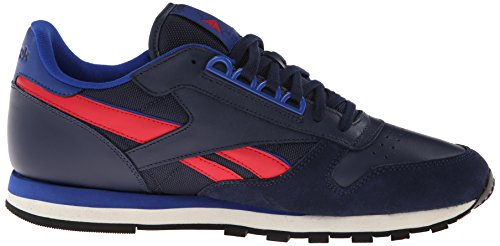 Up Men's Excellent RE Navy Sneaker Leather Collegiate Lace Dark Fashion CL Royal Red Reebok w6dq7TX6
