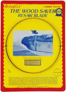 SuperCut B133P58V3 WoodSaver Plus Resaw Bandsaw Blade, 133 Long - 5/8 Width; 3-4 Variable Tooth