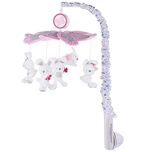 Just Born Antique Chic Musical Crib Mobile, Pink - Antique Baby Bedding