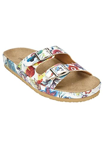 Comfortview Breed Dames Maxi Voetbed Sandalen Tuin Multi