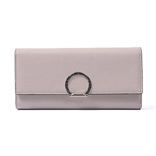 Huluwa Women's Wallet Elegant Fashion Wallet Large Capacity Long Lady Purse, Pink