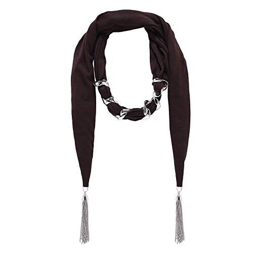 LERDU Women's Scarf Necklace Match All Bead Statement Necklace Scarf Long Tassel Chain Scarf Jewelry Accessory for - Beads Scarf