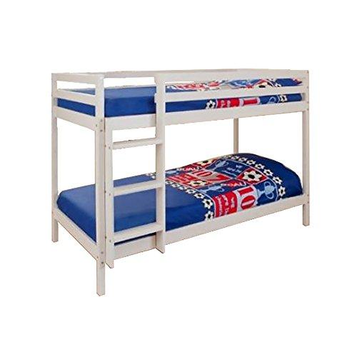 3ft Single Wooden White Bunk Bed Zara