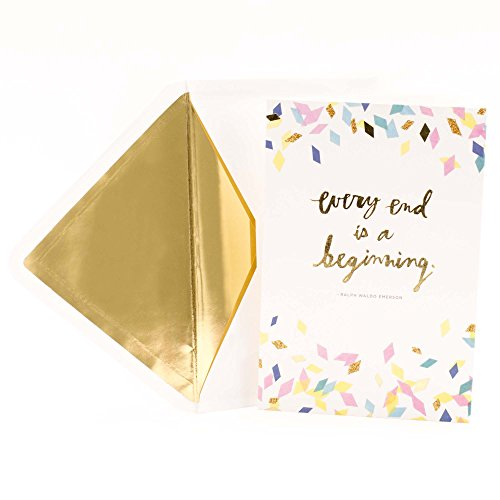 Hallmark Signature Graduation Card (Every End Is a Beginning Ralph Waldo Emerson Quote)