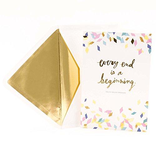 Hallmark Signature Graduation Greeting Card (Every End is a Beginning, Ralph Waldo Emerson quote)