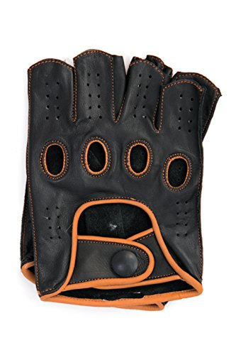Leather Gloves Without Fingers - 5