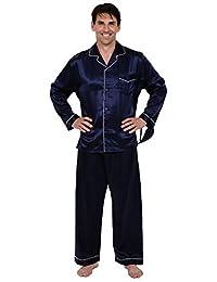 Del Rossa Men's Classic Satin Pajama Set