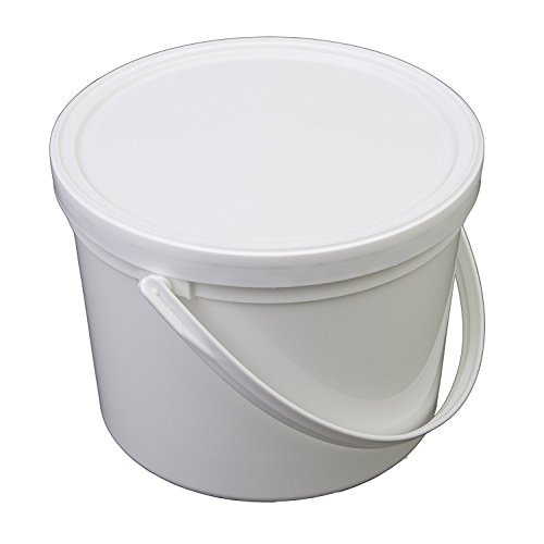 - Consolidated Plastics Pail with Handle, Polypropylene, 1.5 Quart, White, 10 Piece