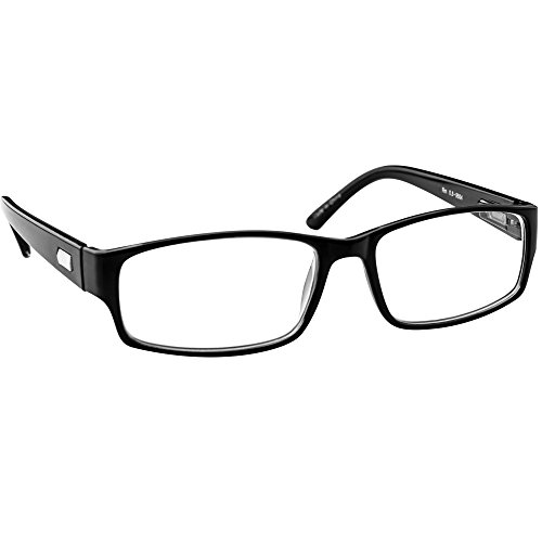 (Reading Glasses 2.25 Black Single Pair Always Have a Timeless Look, Crystal Clear Vision, Comfort Fit with Sure-Flex Spring Hinge Arms & Dura-Tight Screws)