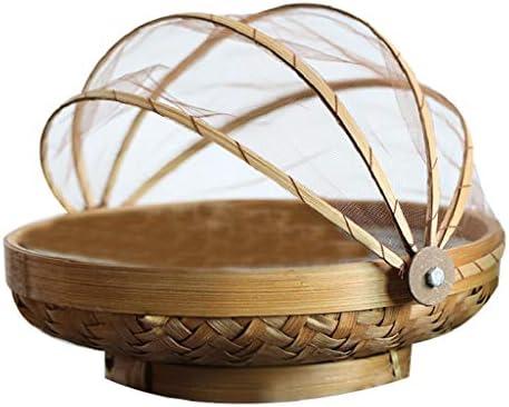 Baoblaze フードカバーテント-編まれた,手作りの-家庭でのハエ,バグ,蚊,ピクニック,バーベキューから食品や果物を守る傘スクリーン - LいいえPaingint