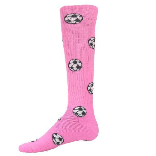 Red Lion Soccer Balls Design Athletic Sports Knee High Youth