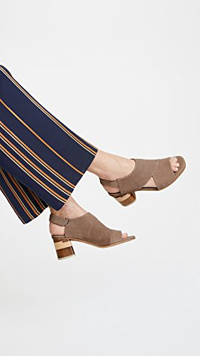 Coclico Zapatos Mujeres Big Easy Block Heel Sandals Elefante De Grano