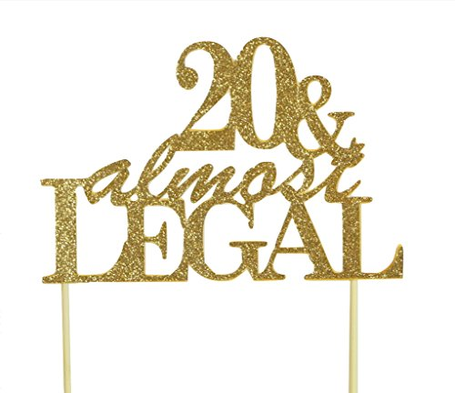- All About Details Gold 20 & Almost Legal Cake Topper