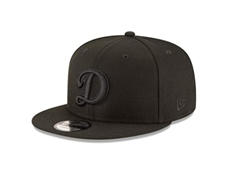 outlet store 41c6e c11e6 Image Unavailable. Image not available for. Color  New Era 9Fifty Hat Los  Angeles Dodgers Basic D Black On Black Snapback Adjustable