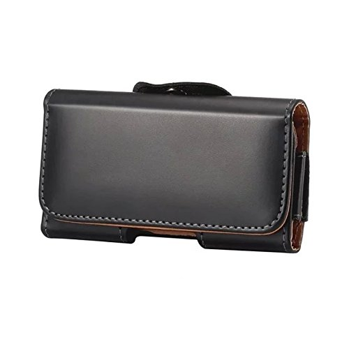 eBuymore Luxury PU Leather Horizontal Belt Case Executive Holster for Samsung Galaxy J7 / Note 5 / S7 Edge / S6 Edge+ Plus / iPhone 7 Plus / 6S Plus / 7Pro / Motorola DROID Turbo 2 (Black)