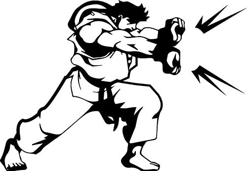 Amazon Com Zhehao Ryu Street Fighter Decal Sticker For Car Truck