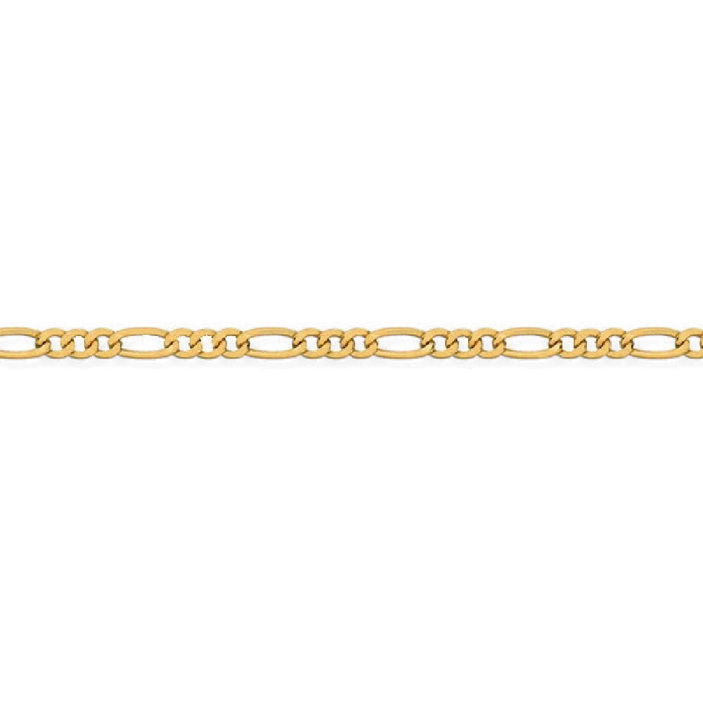 So Chic Jewels - 9k Yellow Gold - 25 cm - 1/3 Alternation Figaro Link Chain Anklet