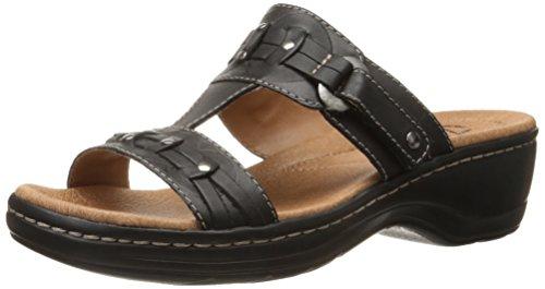 Clarks Hayla joven vestido de la sandalia Black