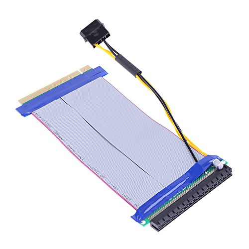 Blue-Ocean-11 - For Video card 6X to 16X Power PCI-E Riser Extension Cable PCI Express Riser Card Adapter with Power Cable for Bit Miner