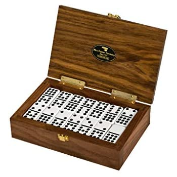 Alex Cramer The Nines Double-9 Domino Set. American-Made Solid Walnut Case Holds Our 55-Piece Set of Dominoes (Domino Set)