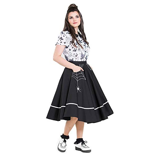 Muffet 1950s Hell Ragno Vintage Retrò Gonna Nero Halloween Miss Bunny Midi 8ATxqA4E