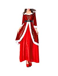 Mitef Adult's Christmas Costume, Couple Santa Claus Suit for Party Cosplay