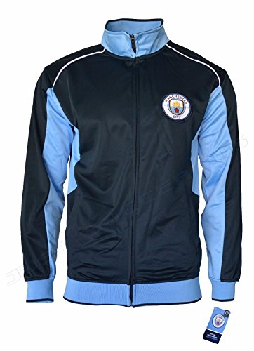 Men's Manchester City FC Soccer Icon Track Jacket (Large) Navy