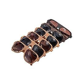 SHINU Wood Sunglasses Oversized Eyeglasses Wood Frame Polarized Sunglasses- Z6043 99 Uniquely Handcrafted with Logo Custom Service(only fulfilled by merchant). Genuine Wood Bamboo from Sustainable Resources. Polarized UV400 Lenses Against Harmful UVA/UVB Rays.