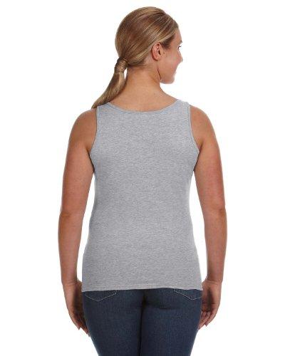 Yunque para mujer hilado y tanque T-Shirt (882L) Gris Heather