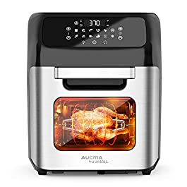 whall Air Fryer, 13QT Air Fryer Oven, Family Rotisserie Oven, 1700W Electric Air Fryer Toaster Oven, Tilt LED Digital…