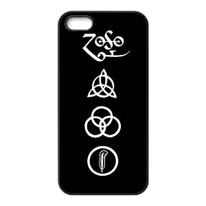 Danny Store 2015 New Arrival TPU Rubber Coated Phone Case Cover for iPhone 5 / 5S - Led Zeppelin