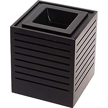 Mindful Design Modern Cut Wax Warmer - Wood Finish Sliced Frame Freshener Wax Melter to Brighten Up Your Living Room, Bathroom, Bedroom and Kitchen (Black)