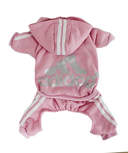 Zehui Haustier Hund Warmen Vier Beine Hoodies Welpe Pullover T-shirt Kleidung Winter-Pullover Bekleidung Rosa XXL