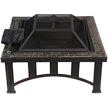 Amazon Com Hio 30 Inch Natural Slate Top Outdoor Fire