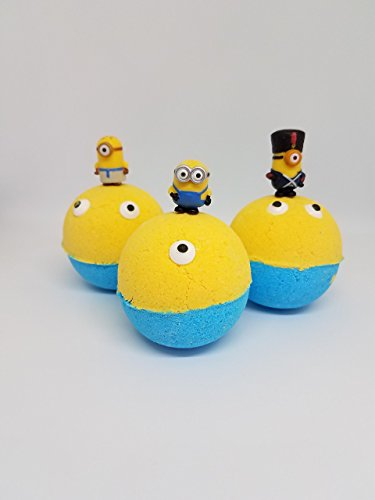 3 Bath Bombs with Despicable Me 3 toys inside by Crazy Mama's Soaps and More by Crazy Mama's Soaps and More