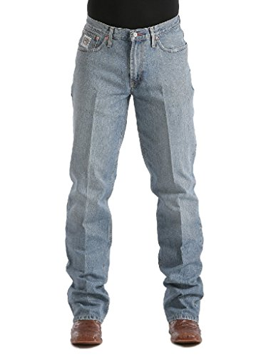 Cinch Men's Jeans White Label Relaxed Fit Midstone 34W x 30L (Cinch Relaxed Fit Jeans)