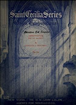 Saint Cecilia Series. Organ. Impovisation on