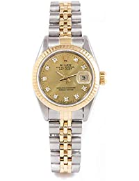 Box & Papers - Rolex 69173 Ladies 26mm No Holes Case - Stainless Steel & Yellow Gold Datejust - Champagne Diamond...