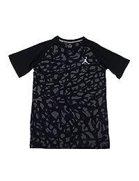 Jordan Big Boys Camo Elephant Print T-Shirt (Large, black)