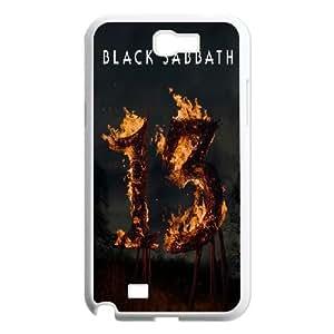 Personality customization TPU Case with Black Sabbath Samsung Galaxy N2 7100 Cell Phone Case White