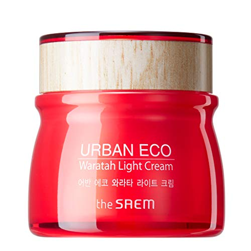 [the SAEM] Urban Eco Waratah Light Cream 60ml - Waratah Extract and Ceramide Capsule Strenghtens Skin Immunity, Rich Hydrating Gel Facial Cream, Makes Skin Firmer and Radiant,