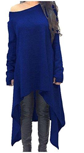 Solid Black Long High Off Dress Low Shoulder Sleeve Hem Coolred Women's Mid xYHR1R