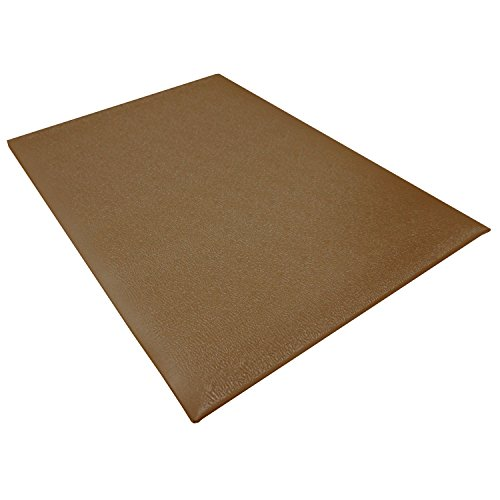 Ortho Stand Mat (StaticTek 3x5 Pre-Cut Anti Fatigue Floor Mats-Vinyl Material Above Ground Mat-Comfort Mat for ESD Shoes and Relief from Work Stress and Fatigue for Standing on Floors in an ESD WorkStation,Brown)