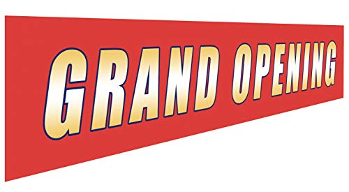 Grand Opening Banner | Large Store Advertising Sign | Business Restaurant Shop Flag (Opening Outdoor Banner)